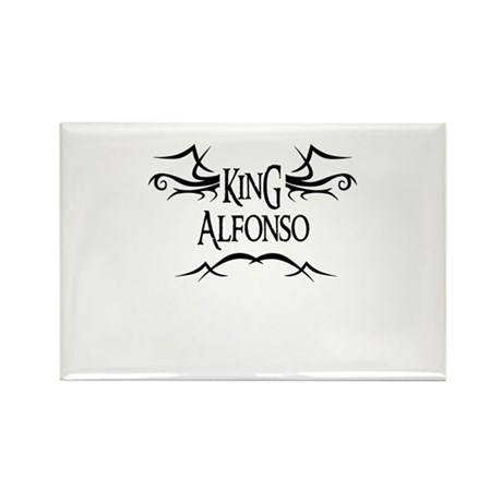 King Alfonso Rectangle Magnet (10 pack)
