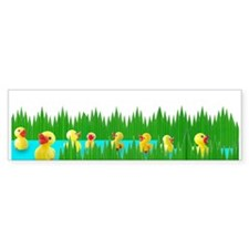 Ducks in Sushi Grass Bumper Bumper Sticker