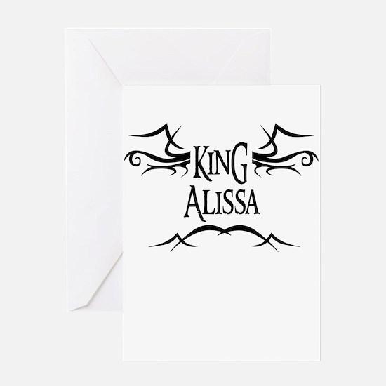 King Alissa Greeting Card