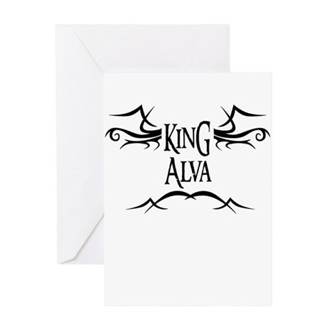 King Alva Greeting Card