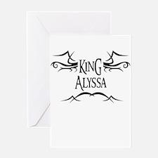 King Alyssa Greeting Card