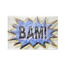BAM! Distressed look Emeril Rectangle Magnet