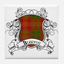 Burns Tartan Shield Tile Coaster