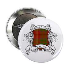 """Burns Tartan Shield 2.25"""" Button"""