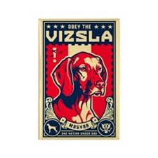 Obey the Vizsla! Patriotism Magnet
