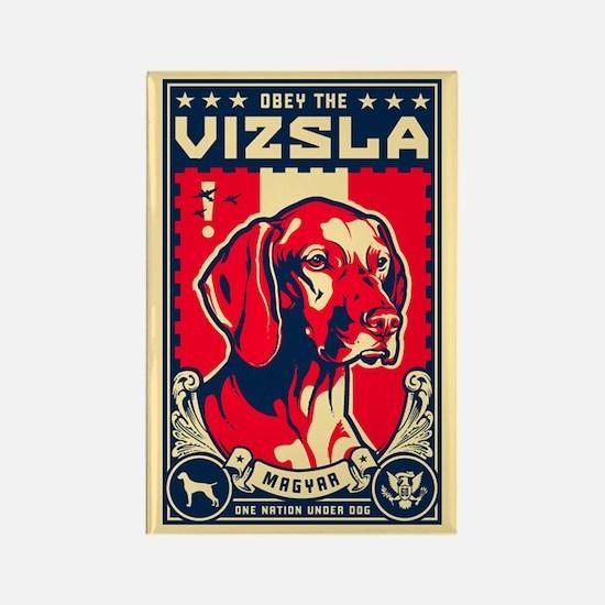 Obey the Vizsla! Patriotism Magnet