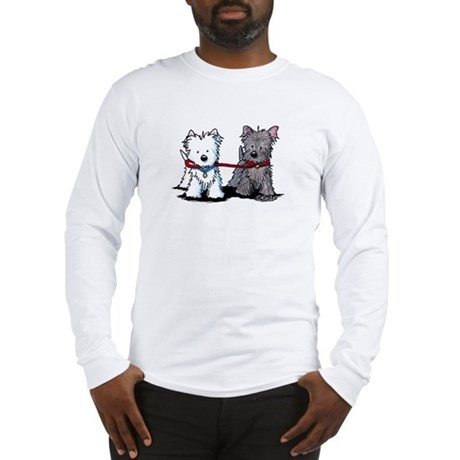 Walking Buddy Terriers Long Sleeve T-Shirt