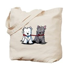 Walking Buddy Terriers Tote Bag