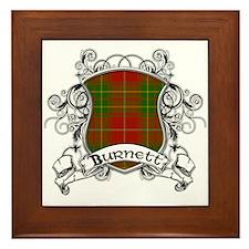Burnett Tartan Shield Framed Tile