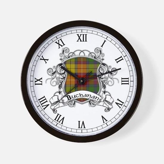 Buchanan Tartan Shield Wall Clock