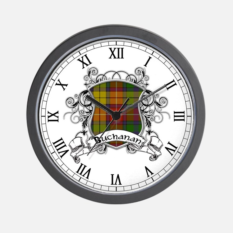 Buchanan Tartan Shield Wall Clock