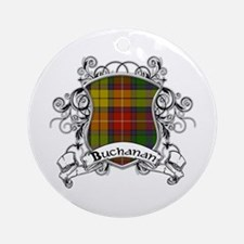 Buchanan Tartan Shield Ornament (Round)