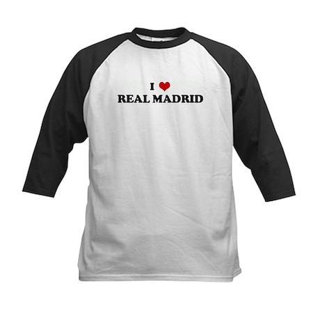 I Love REAL MADRID Kids Baseball Jersey