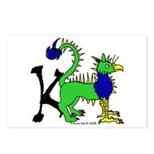 K is for Keythong Postcards (Package of 8)