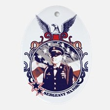 Cute Army grandfather Oval Ornament