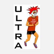 Run Zombie Run Ultra Rectangle Decal