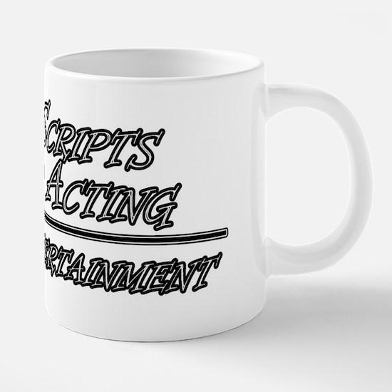 scripts and acting 2.png 20 oz Ceramic Mega Mug