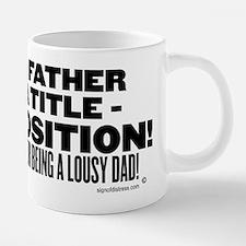 being a father is not a tit 20 oz Ceramic Mega Mug