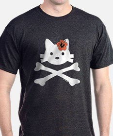 Hibiscus Kitty X-Bones T-Shirt