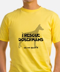I RESCUE Dobermans T-Shirt