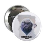 PUGS ARE REALLY ALIENS Button