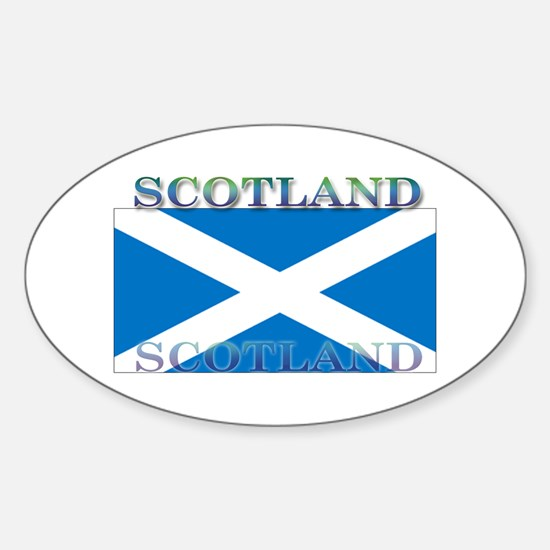 Scotland Scottish Flag Oval Decal