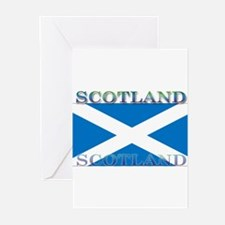 Scotland Scottish Flag Greeting Cards (Package of