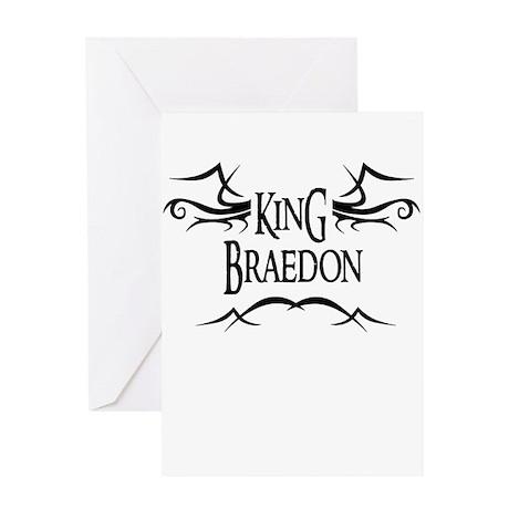 King Braedon Greeting Card