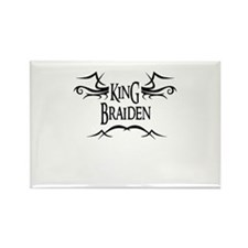 King Braiden Rectangle Magnet