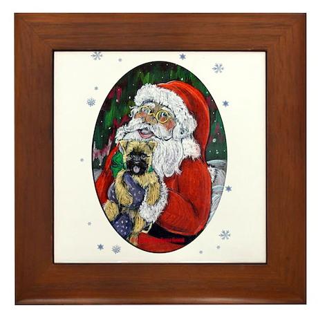 Santa and Me Cairn Framed Tile