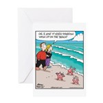Starfish Wash Up on Beach Greeting Card