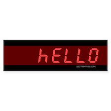 """07734 """"Hello"""" Calculator Bumper Bumper Sticker"""