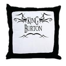King Burton Throw Pillow
