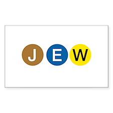 J E W Rectangle Decal