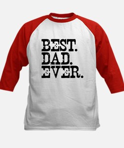 Best Dad Ever Kids Baseball Jersey