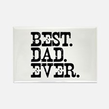 Best Dad Ever Rectangle Magnet (10 pack)