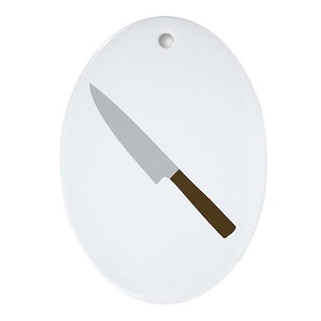 chef kitchen knife Oval Ornament