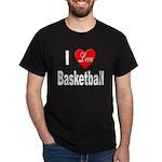 I Love Basketball (Front) Black T-Shirt