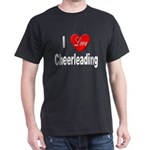 I Love Cheerleading (Front) Black T-Shirt