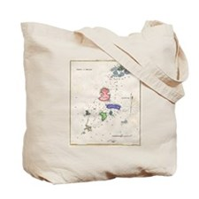 Maps of Portsmouth & Isle of Shoals Tote Bag