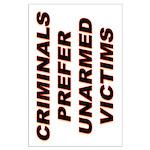 35x23 Criminals' Preference Poster