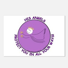 ANGEL PROTECTION PURPLE Postcards (Package of 8)