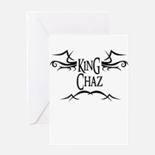 King Chaz Greeting Card