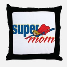 SuperMom Throw Pillow