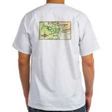 1815 Map of Portsmouth NH Ash Grey T-Shirt