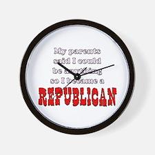 Parents said... Republican Wall Clock
