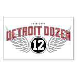 The Detroit Dozen Rectangle Sticker 10 pk)