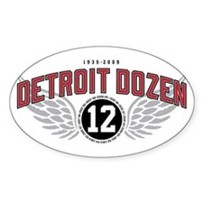 The Detroit Dozen Oval Decal