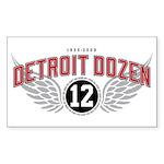 The Detroit Dozen Rectangle Sticker