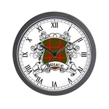 Bruce Tartan Shield Wall Clock